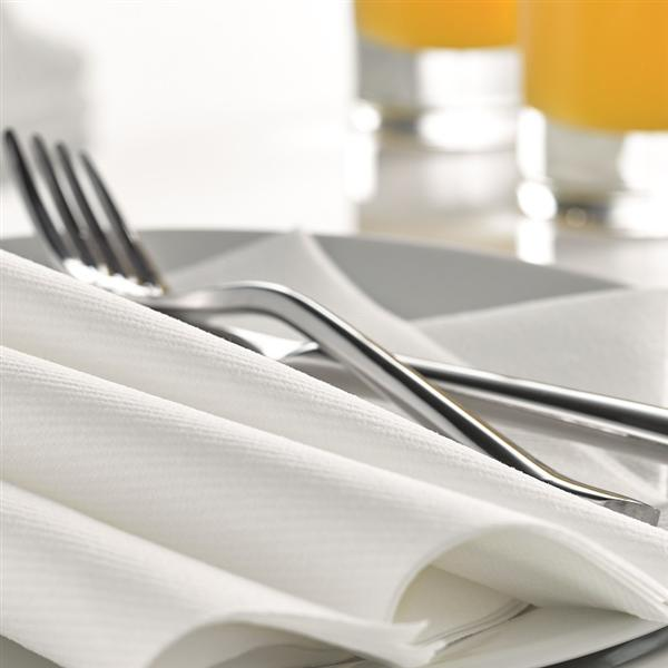 LUXURY AIRLAID WHITE NAPKINS 40X40